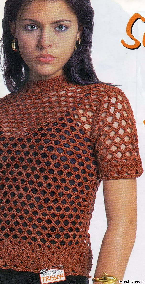 Вязание крючком сетчатые модели 22